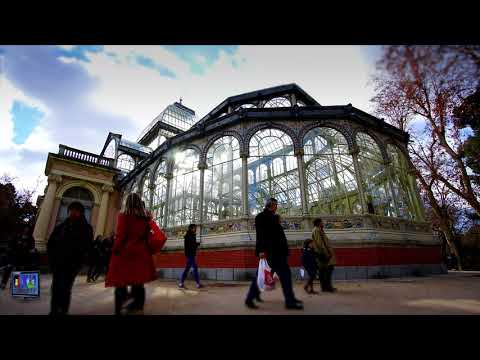 The Crystal Palace in Madrid Spain in Timelapse Palacio de Cristal Le Palais de Cristal a Ma