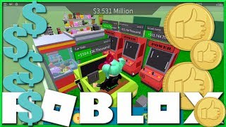 ROBLOX Arcade Tycoon I LOVE ARCADE GAMES and PINBALL!! SallyGreenGamer Geegee92 Family Friendly