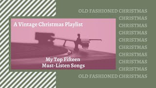 Vintage Christmas Music | My Must-Listen Playlist of 2019