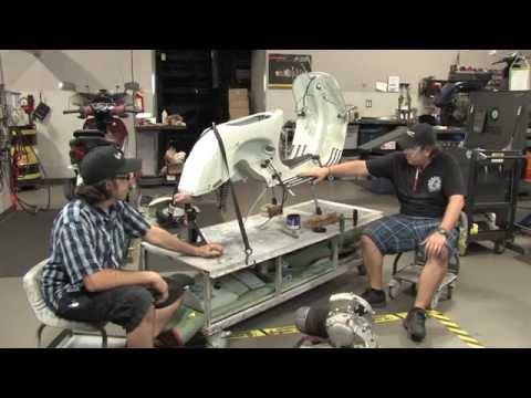 Vespa P200 Restoration - PART 3 - Engine/Fork/Controls Installation