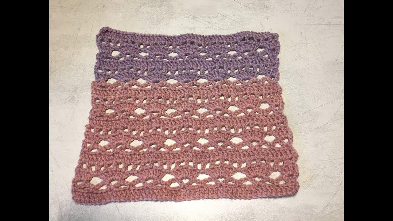 Tuto Motif Fantaisie Pour Couverture Poncho Rideaux Au Crochet