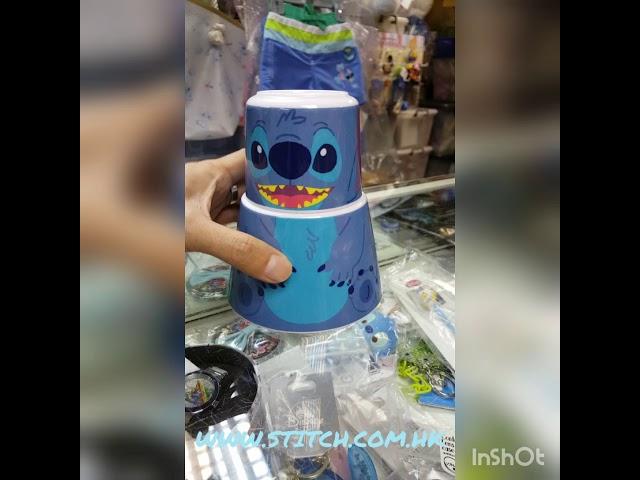 ??? ??? ??? ???? ?? ? ?? 1?2? Stitch Plastic Bowl Cup 1 Set 2 Pcs