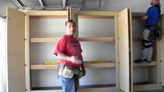 Manny's Organization Station HERCULEAN Garage storage cabinets.How to Build The strongest system.