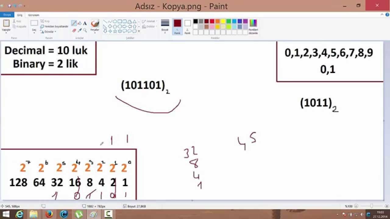 Sayı Sistemleri ve İkilik (Binary) Sayı Sistemi (Cebire Giriş)
