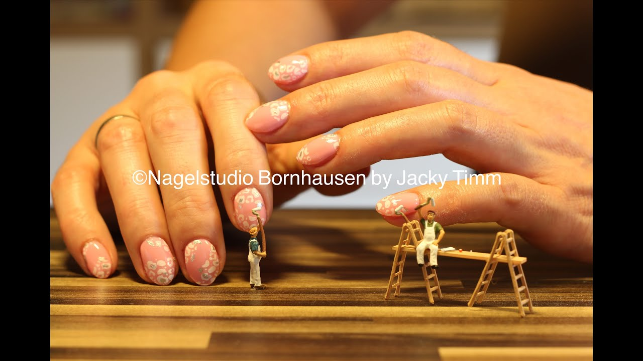 Nageldesign Weiß Rosa Nageldesign Anleitung Leo Look Pink Rosa Tutorial Deutsch