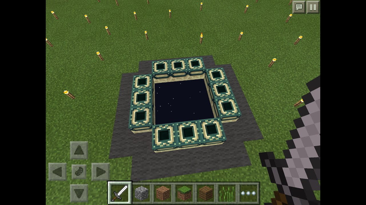 How To Build The End Portal In Minecraft Pe
