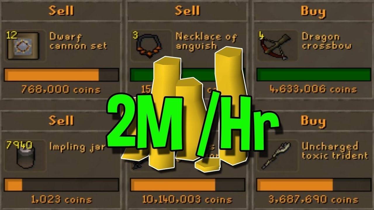 Make 2 Mil Every 4 Hours Flipping These Well Known Items! [OSRS]