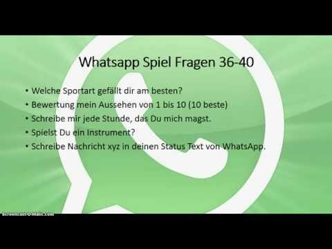Whatsapp Spiel Fragen 1 50 Youtube