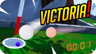 VICTORIA EN EL ULTIMO SEGUNDO POR UN SOLO GOLPE! - Golf It - Gona y Luh