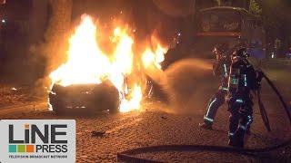 Euro 2016. Soirée de violence à Paris / Paris - France 10 juillet 2016