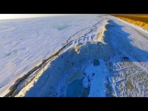 Watch: Giant ice wall forms on China-Russia border lake