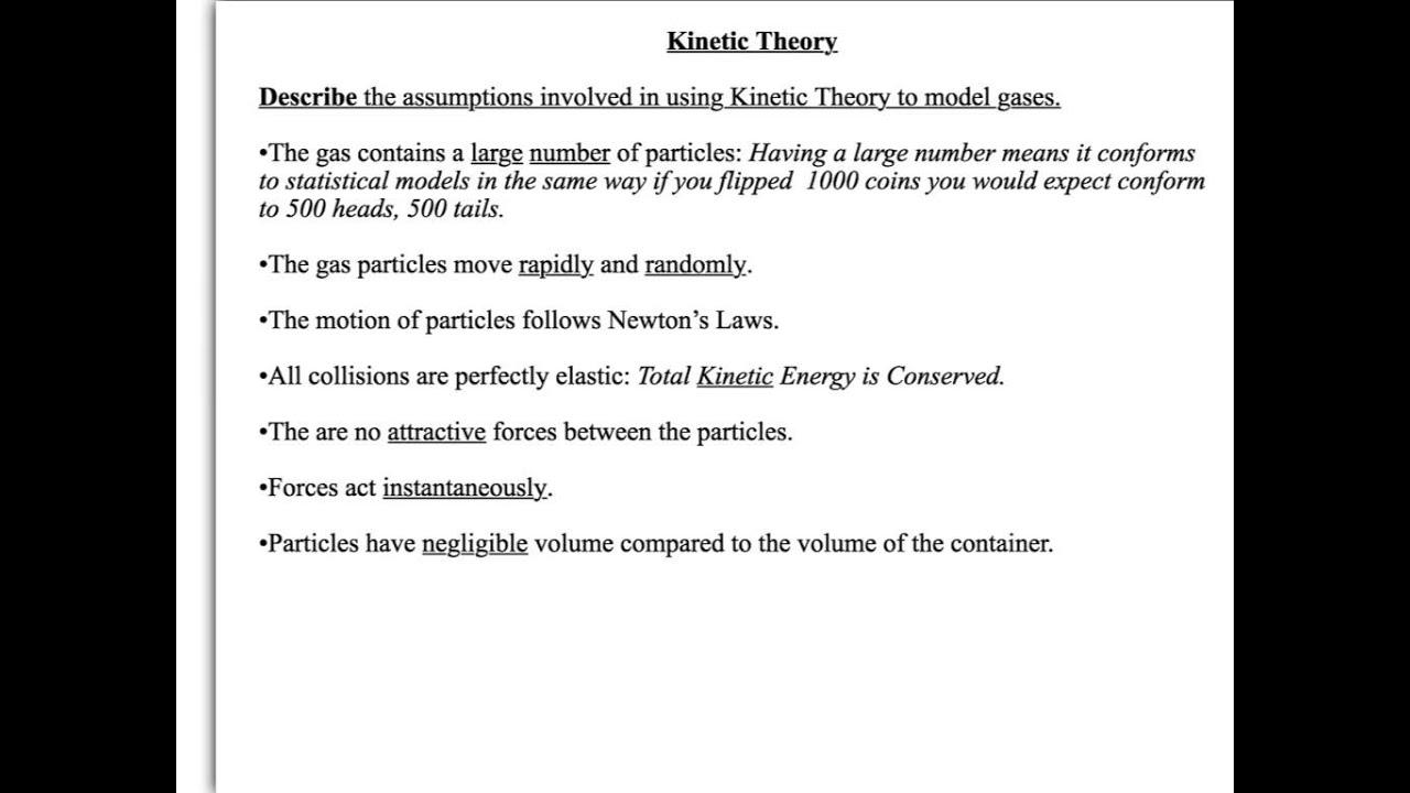 A Level Physics: Aqa: Thermal Physics: Kinetic Theory