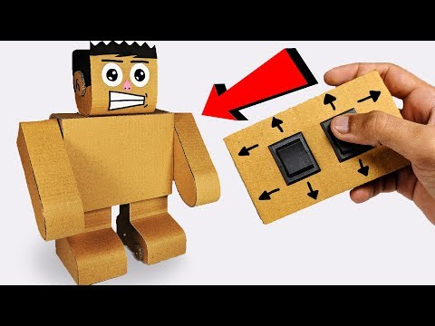How to make Walking ROBOT from cardboard Easy Science Project DIY at Home