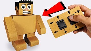 How to make a walking robot from cardboard