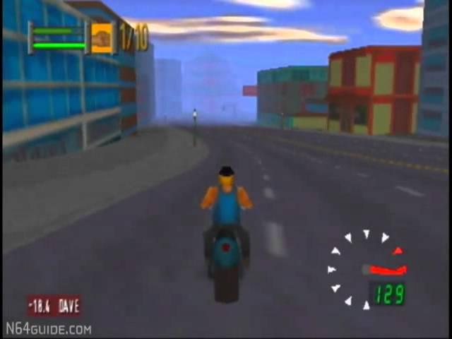 Road Rash 64 - N64 Gameplay