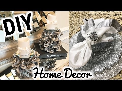 Dollar Tree DIY Home Decor! | DIY Rose Mirror Candle Holders | Fall Glam Napkin Rings