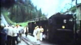 schneebergbahn with narrow gauge steamtrain