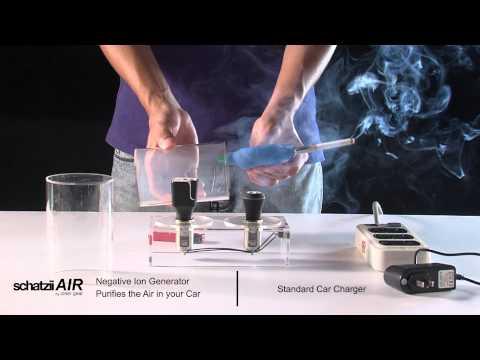 Schatzii AIR - Ionic Car Air Purifier + Car Charger