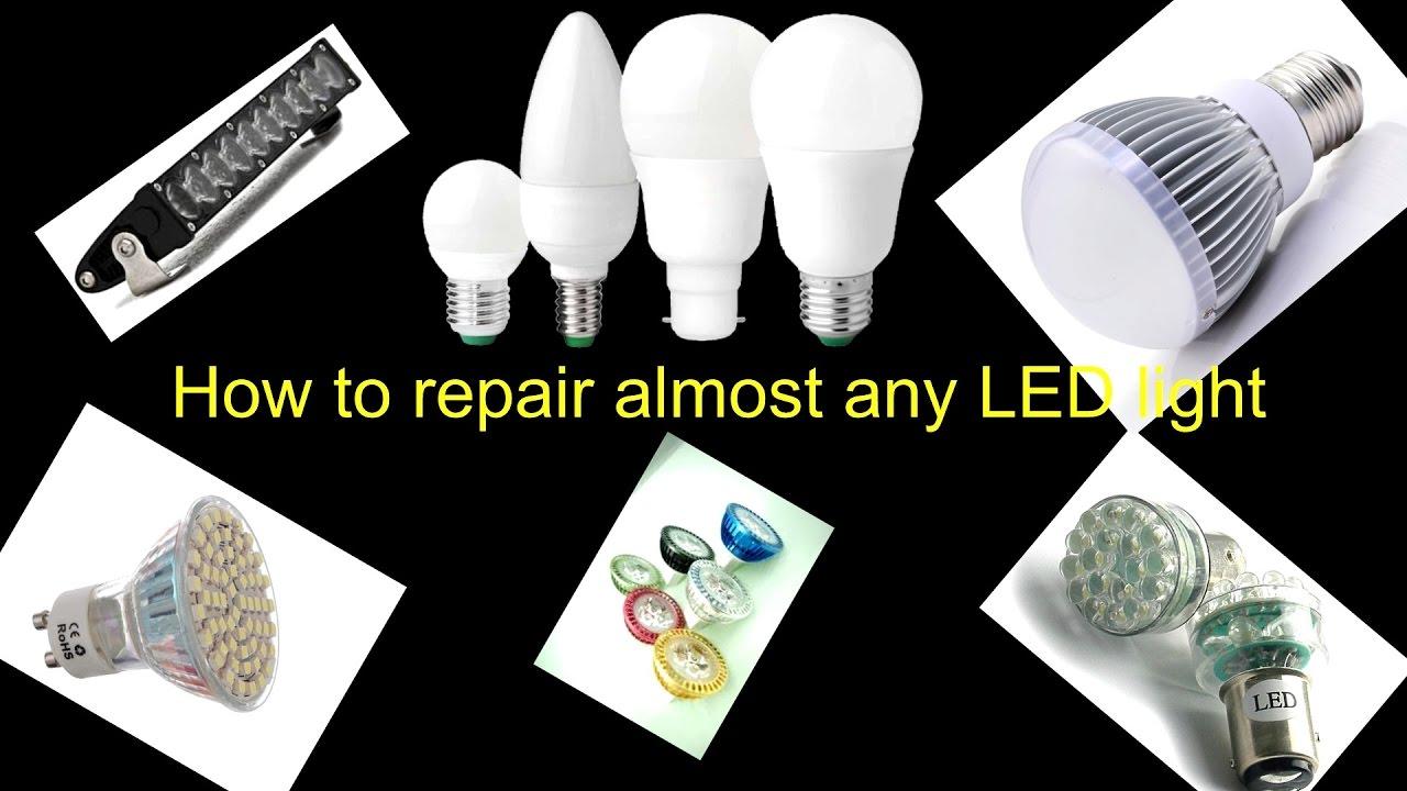 How to repair / fix broken led light [bulb]