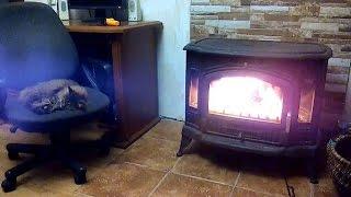 видео печь камин