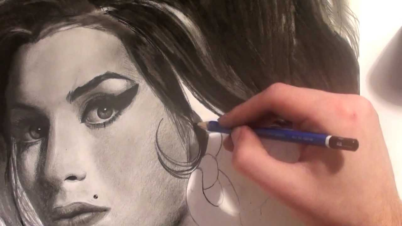 Amy Winehouse Speed Drawing By Pier Luc Cormier Youtube