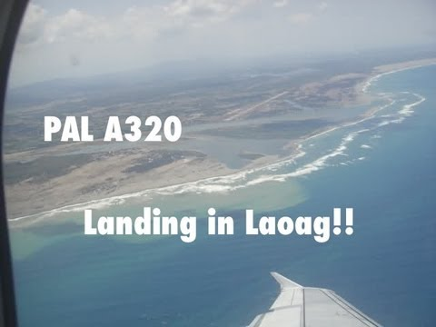 Philippine Airlines Airbus A320 Landing in Laoag International Airport