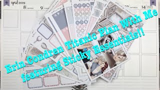 Gambar cover Erin Condren Titanic Plan With Me featuring Sticky Essentials!!