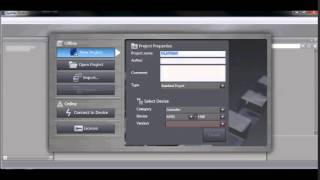 creating a new fh vision project using sysmac studio
