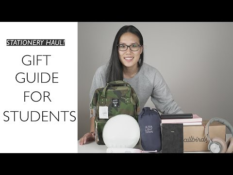 GIFT GUIDE FOR STUDENTS + STATIONERY UNBOXING! (2017)
