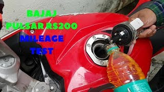 BAJAJ PULSAR RS200 MILEAGE TEST