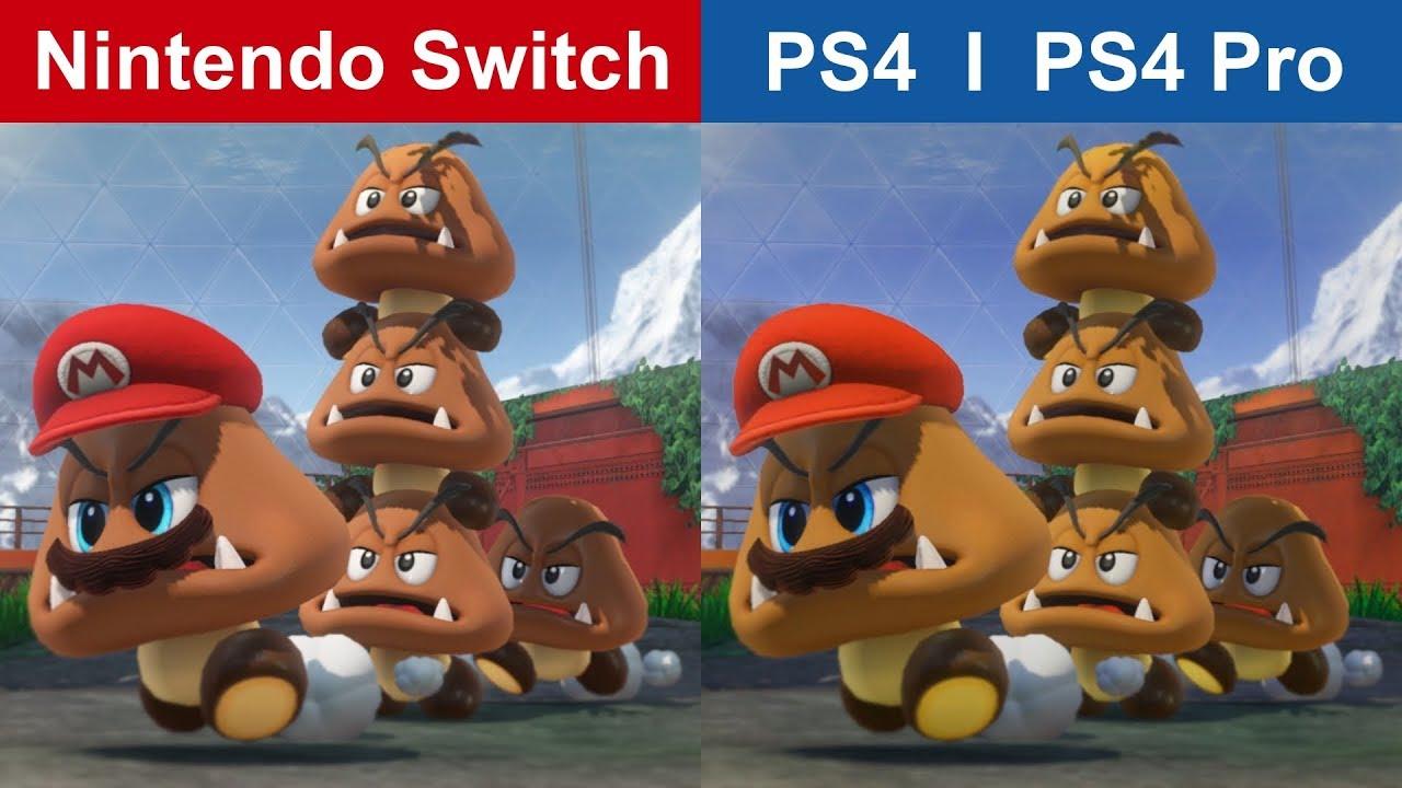 Super Mario Odyssey Switch Vs Ps4 Pro Graphics