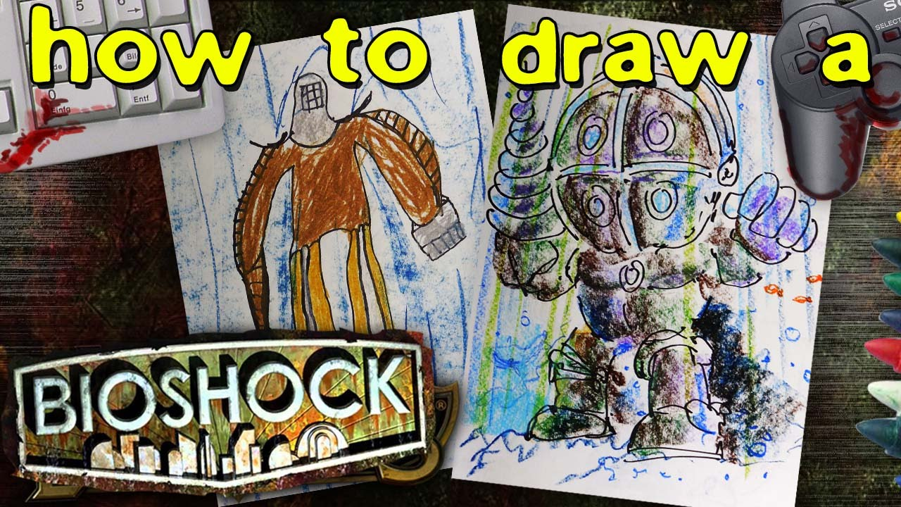 How To Draw A Big Daddy From Bioshock Youtube