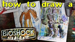 How to draw a Big Daddy from Bioshock