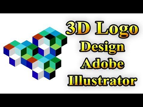 3D logo design illustrator  Adobe Tutorial  illustrator tutorial for beginners  thumbnail