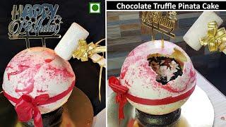 Pinata Surprise Cake Recipe  Eggless Chocolate Truffle pinata cake  Trending pinata cake  Hammer