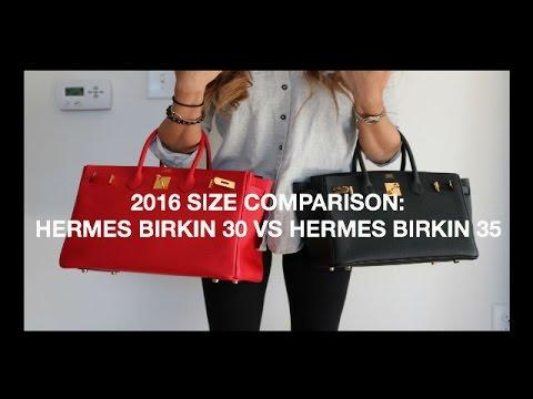 2301f5624cc9 SIZE COMPARISON  Hermes Birkin 30 v Hermes Birkin 35