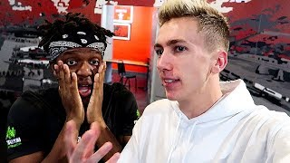 *EXCLUSIVE FOOTAGE* KSI VS LOGAN PAUL WEIGH IN
