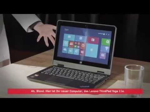 James Blond trifft das Lenovo ThinkPad Yoga 11e - Deutsche Version