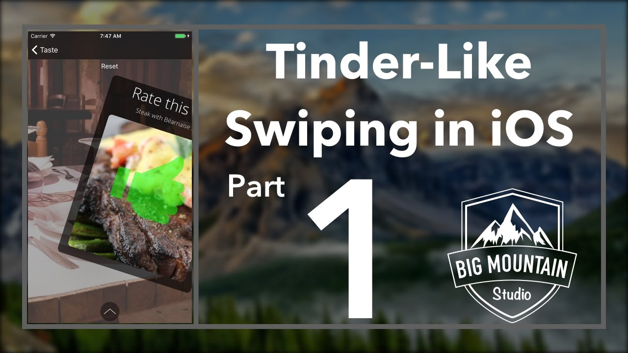 iOS Tinder-Like Swipe - Part 1- UIPanGestureRecognizer (Xcode 8, Swift 3)