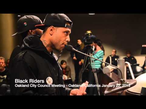 Black Riders at Oakland City Council Meeting  (January 22, 2013)