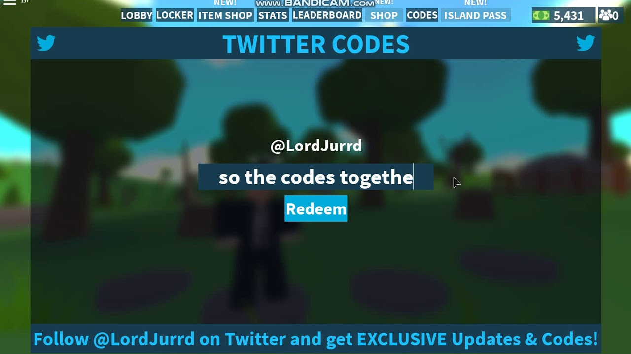 2 New Codes In Island Royale Roblox New Update