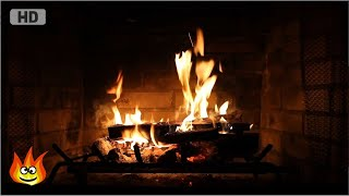 Repeat youtube video Burning Fireplace with Crackling Fire Sounds (Full HD)