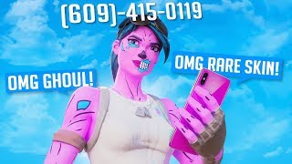 I put my PHONE NUMBER on my RARE FORTNITE ACCOUNT...