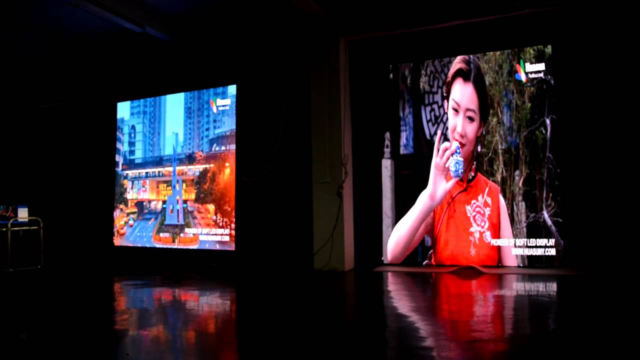 P4mm high resolution flex led video curtain for concert event audio