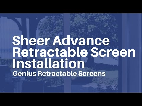 Genius retractable screens sheer advance custom sizable for Genius retractable screen