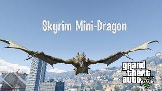 Skyrim Mini-Dragon mod GTA 5 (установка мода и обзор)