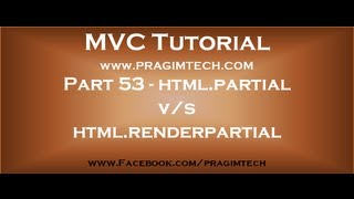 Part 53   Difference between html.partial and html.renderpartial