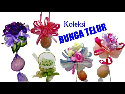 Bunga Telur Terkini & Bunga Pahar DIY