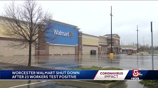 23 workers test positive for COVID-19 at Walmart in Worcester