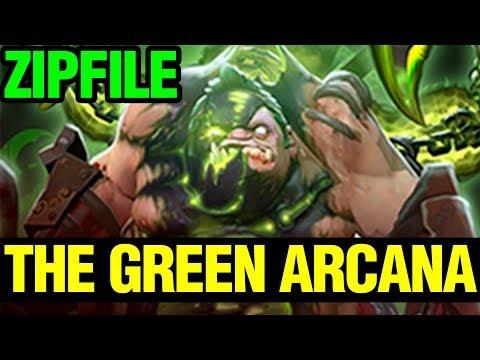 The Green Arcana - ZIPFILE WITH ARCANA STYLE 2 - PUDGE ARCANA- Dota 2